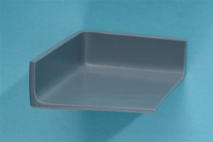 Inside corners of the tray are coved for complete cleaning.